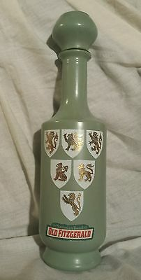 1963 Old Fitzgerald Tournament Decanter Wedgwood Green Bourbon Whiskey 6 year