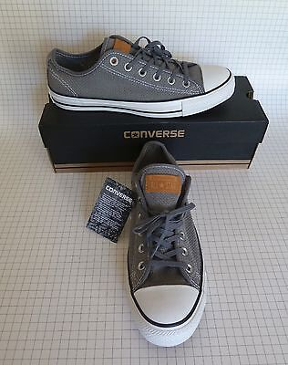 Converse Shoes NIB Unisex Women 10 Men 8 All Star Chuck Taylor Low Sneakers Gray