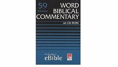 Word Biblical Commentary 59 volumes CD-ROM RRP 1199