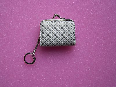 Vintage Women's Coin Change Purse with Raised Pattern On Keychain Great Quality
