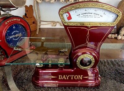Vintage 1906 Dayton Model 166 - 1-1/4 lb Coffee Candy Scale Glass Tray Beautiful