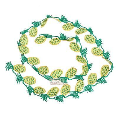 Pineapple Embroidery Brooch Pin Fabric Sticker Iron On Patch Clothes DIY Craft