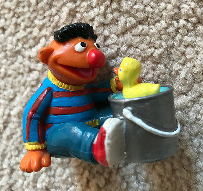 Ernie Playing With Rubber Ducky Cute PVC Figure from Sesame Street