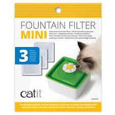 Catit 2.0 Replacement Filters for 1.5L Mini Flower Drink Fountain - 3 Pack