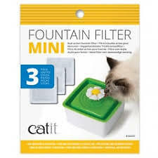 Catit Replacement Filters for 1.5L Mini Drink Fountain - Water Softening 3 Pack