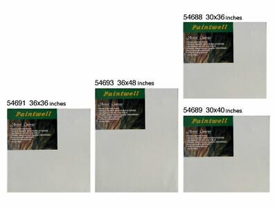 "10x Paintwell 3/4"" Thick Blank White Stretched Artist Canvas Panels for Painting"