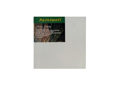 "10x Paintwell 36x36"" (90x90cm) Blank White Stretched Canvas Panels for Painting"