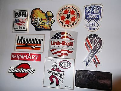 Oilfield Manitowoc & Link-Belt Crane stickers Union Iron Workers Mining Sticker