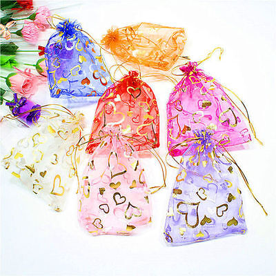 100Pcs Organza Jewelry Candy Gift Pouch Bag 2Size Wedding Party Xmas Favor Decor
