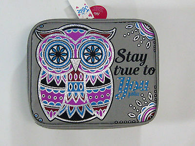 NWT Justice Girls School Gray Owl Lunch Box Stay True To You Zipper Bag Tote