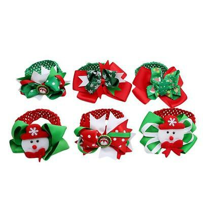 Christmas Party Baby Girl Cloth Hair Bows With Headbands Hair Accessories - LD