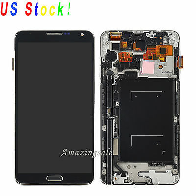 LCD Screen &Touch Digitizer Assembly+Frame For Samsung Galaxy Note 3 N900A Black