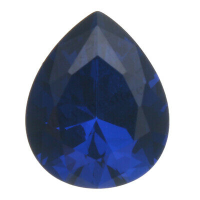 UNHEATED 5.26ct Blue Sapphire Pear Cut Loose Gemstone Rings Jewelry 9*11MM