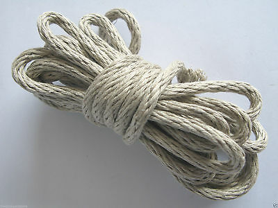 6ft Special Clock Rope: 6mm Central Core Woven Linen Grandfather Longcase Cord