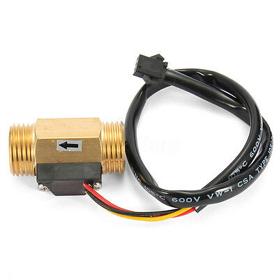 G1/2'' Copper Hall Effect Liquid Water Flow Sensor Switch Flowmeter Meter