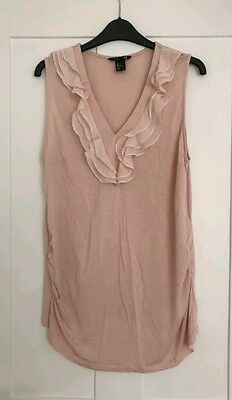 H&m Mama Maternity Lightweight Pink Blush Top Size Medium 10/12 Excon