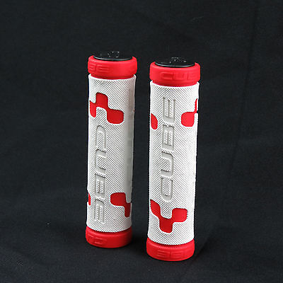 CUBE Performance Grip Mountain Folding Bike Bicycle Handlebar Grips - White/Red