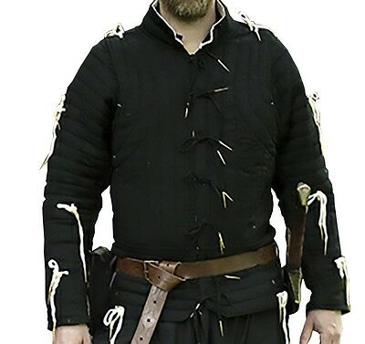 Black Imperial Gambeson, XL, LARP, Renaissance, Theater, COSPLAY, Padded