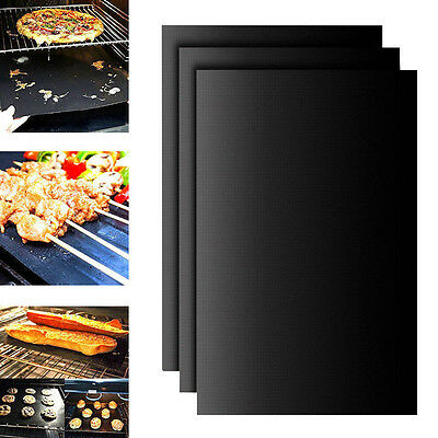BBQ Grill Mat Non Stick NonStick Grilling Pad for Gas Easy Bake Cook Grate Cover