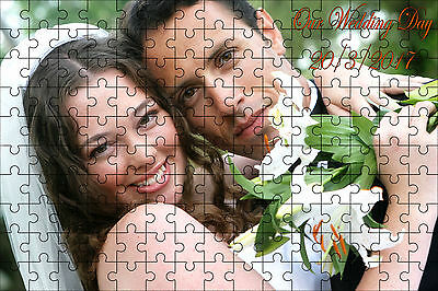 Personalised Photo Jigsaw Puzzle Add you own Photo and Message 3 sizes to choose