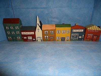 Village, Hotel, Post Office, Church, 2 Houses, Barber Shop, Country Store