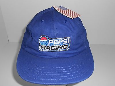 Vintage Blue Pepsi Racing Adjustable Cap Hat NWT