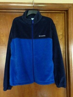Columbia Men's Fleece Full Zip Jacket Navy/Blue Size X-LARGE FAST SHIPPING