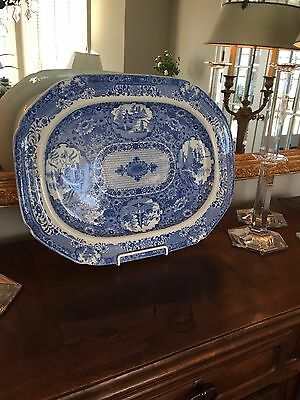 Beautiful Antique Blue & White Platter