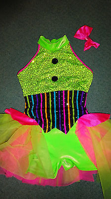 Girls 6 7 Dance costume Creations by Cici Dress Up  Halloween sequins ruffles