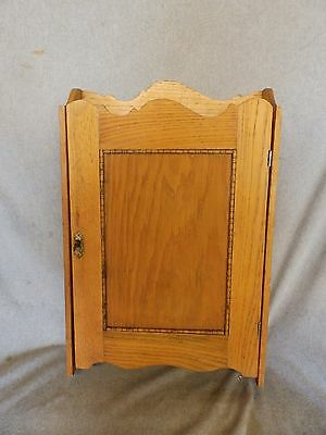 Antique Wood Surface Mount Medicine Cabinet Cupboard Farmhouse Barn Vtg 220-17P