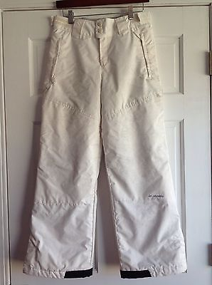 Columbia White Snow Ski Pants Youth 14-16