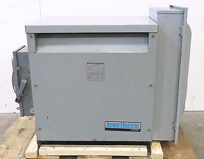 Acme Electric 480/240 volt 45 KVA Power Transformer T-1-53343-3 with Disconnects