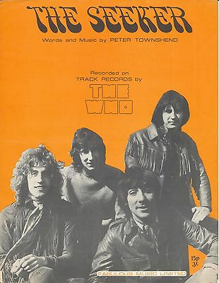 The Seeker - The Who - 1970 Sheet Music