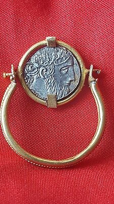 OUTSTANDING LARGE  GOLD  high ct  RING WITH SILVER SWIVEL COIN  4.32 grams