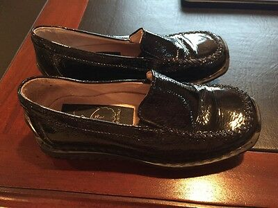 Villa Scarpe Girls Black Patent Leather Shoes Size 27 10 US made in italy