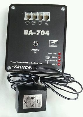 Skutch Ba-704 Music On Hold Adaptor For Up To 4 Lines Nice!