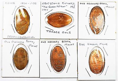 Enlongated Maine Coins From Memorial Penny (6 Total)