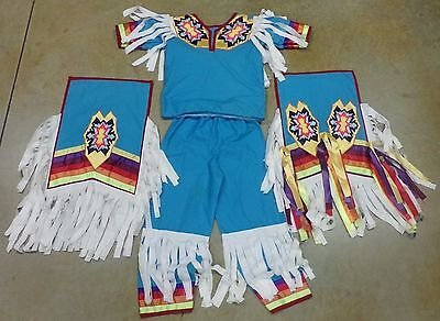 Native American Boys Grass Dance OutFit Regalia PowWow Breech Cloth Apron Ribbon