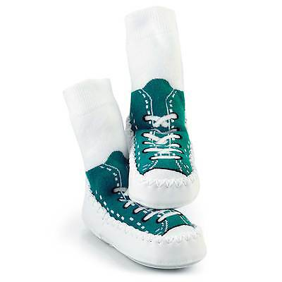 Sock Ons Baby / Child Mocc Ons Sneaker Turquoise 18-24 Months