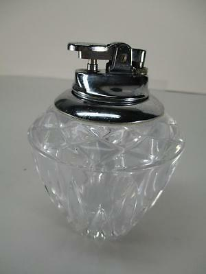 Vintage Retro Clear Glass Table Top Style  Gas Cigarette Lighter Japan