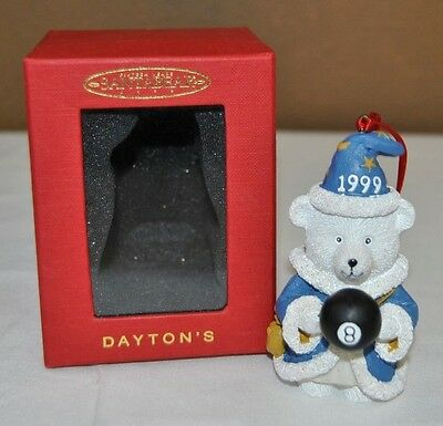 1999 SANTABEAR Wizard Magic 8 Ball Christmas Ornament Marshall Field Dayton's