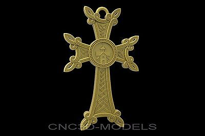 3D Model STL for CNC Router Engraver Carving Artcam Aspire Religion Cross 8801