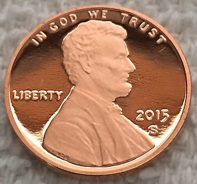 2015-S Proof Lincoln Cent Deep Cameo From U.s. Mint Set Wow Look!!!!