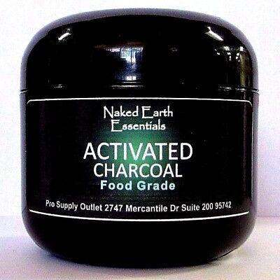 Activated Charcoal Food Grade Hardwood Dervided  1oz Jar to 8oz Jar