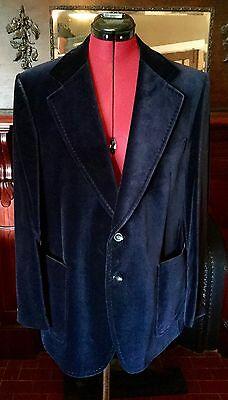 Vintage ORIGINAL 1970's McGregor Australian Made ~*BLUE VELVET Jacket Dress MINT