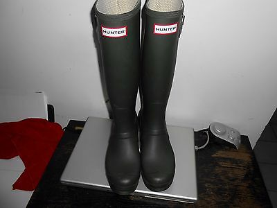 Hunter Women's Original Tall  boots US 6 M 7 F W 23499
