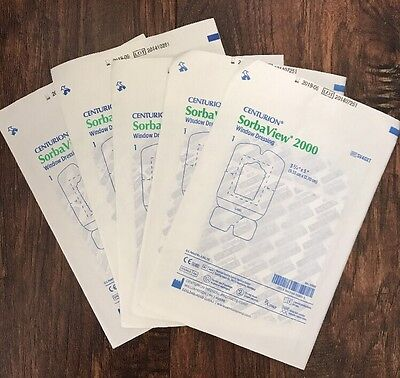 "Centurion Sorbaview 2000 Window Dressing 3.75"" x 5"" IV Dressing Lot Of 5"