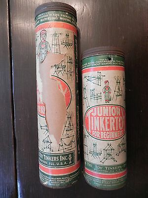 Lot Of 2 Vintage Junior Tinker Toys For Beginners by The Toy Tinkers Inc