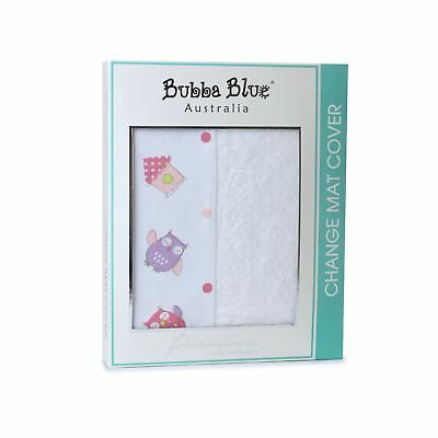 Bubba Blue Changing Pad Cover Change Mat Protector Nursery Decor - Baby Girl Owl