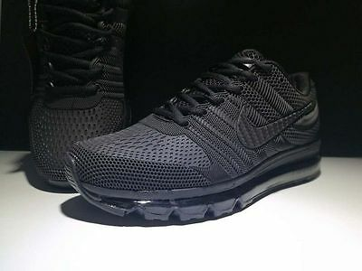 Nike Air Max 2017 Shoes Men's - Running Training - Classic Series-(Black)